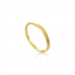 Ania Haie Modern Curve Ring. Yellow Gold Plated  R002-03G