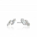 Ania Haie Glow Stud Earrings. Silver Rhodium Plated E018-07H