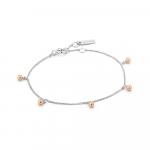 Ania Haie Orbit Ball Set Bracelet. Silver & Rose Gold Plated   B001-01T