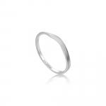 Ania Haie Modern Curve Ring. Silver Rhodium Plated R002-03H-52