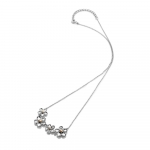 Hot Diamonds Forget Me Not Sterling Silver & 18ct Rose Gold Plate Necklace - DN140