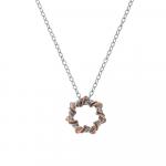 Hot Diamonds Vine Sterling Silver & 18ct Rose Gold Plate Pendant - DP753