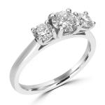 Platinum Three Stone Diamond Ring 01-03-373