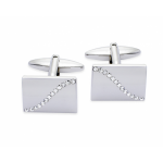 Gaventa White Crystal Wave Cufflink