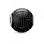 Thomas Sabo Karma Matt Black Obsidian Shanghai silver bead K0055-023-11