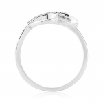 ​9ct White Gold & Diamond Swirl Ring