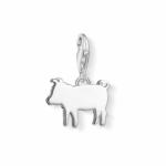 Thomas Sabo Silver Plain Piglet Charm 1290-001-12