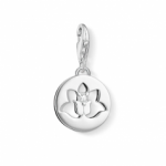 ​Thomas Sabo Silver Lotus Flower in a Circle Charm 1301-051-14
