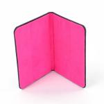 Dulwich Ladies Black Leather Passport Holder with Shocking Pink Lining 70359