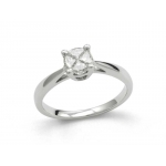 18ct White Gold 4 Diamond's in a Hidden Setting 0.46ct