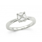 18ct White Gold 4 Diamond's in a Hidden Setting 0.55ct