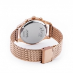 ​Henry London Unisex 39mm Rose Gold Plated Richmond Mesh Bracelet & White Chronograph Dial - HL39-CM-0034