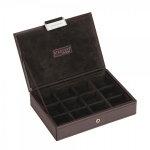 ​Stackers Lidded Executive Chocolate Brown Mini Jewellery Box 73180