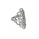 ​Vamp London Oxidised Silver Hidden Mask Ring 3014