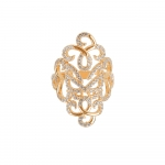 Vamp London Yellow Gold Plated Hidden Mask Ring HMR041-YG-C