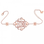 ​​Vamp London Rose Gold Plated Hidden Mask Bracelet HMB040-RG-C