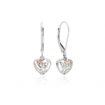 Clogau Silver & 9ct Rose Gold Diamond Eternal Love Earrings 3SCE010