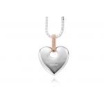 Clogau Silver & 9ct Red Gold Cariad Heart SCA010