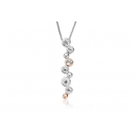 Clogau Silver & Rose Gold White Topaz Celebration Necklace 3SMP2