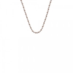 Emozioni Silver & Rose Gold Plated Accent Bead 18'' Chain CH019
