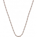 Emozioni Silver & Rose Gold Plated Accent Bead 30'' Chain CH020