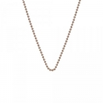 ​Emozioni Rose Gold Plated Bead Chain 24'' CH052