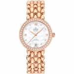 Ladies Omega De Ville Prestige Quartz 27.4mm Dewdrop Watch 424.55.27.60.55.004