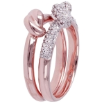 Bronzallure Romanze Set Knotted Ring WSBZ00554WR-14