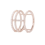 Bronzallure 18kt Rose Gold Plated Cuff Ring WSBZ00531WR