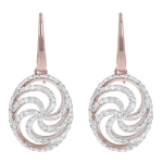 Bronzallure Altissima Whirls Fancy Pave Earrings WSBZ00802WR