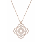 Bronzallure Rokoko Shiny Arabesque Pendant and Bronze Chain WSBZ00577WR.SH