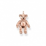 Thomas Sabo Silver Pendant Teddy Bear Rose Gold Plated PE634-443-12