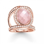 Thomas Sabo Pink Cocktail Ring Love Knot TR2015-537-9