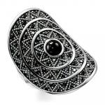 Thomas Sabo Ring Black Zig Zag TR2053-641-11