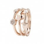 Bronzallure 18kt Rose Gold Plated Set of 3 Rings WSBZ00531WR