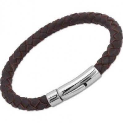 Unique Mens Brown Leather Bracelet