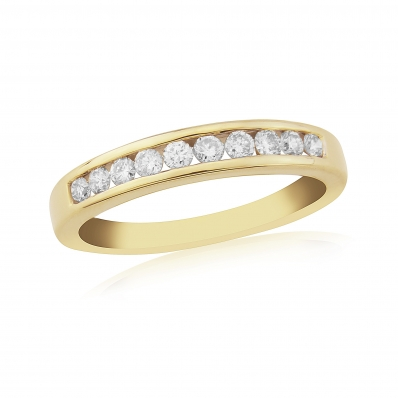 9ct Yellow Gold 0.33ct Channel Set Eternity Ring
