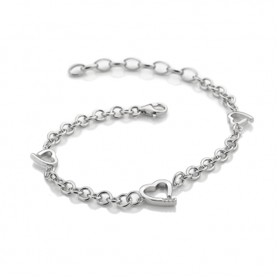 Hot Diamonds Warm Heart Sterling Silver Bracelet - DL564