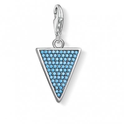 Thomas Sabo Charm Pendant Triangle Turquoise 1579-667-17
