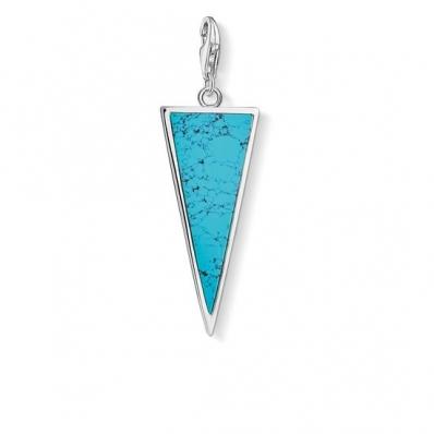 Thomas Sabo Charm Pendant Triangle Turquoise Y0024-404-17