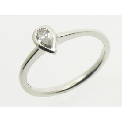 Platinum Pear Cut Diamond Ring JR20928