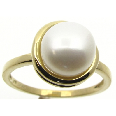9ct Yellow Gold Freshwater Pearl Ring S8132