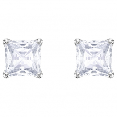 Swarovski Attract Stud Earrings White, Rhodium Plating 5430365