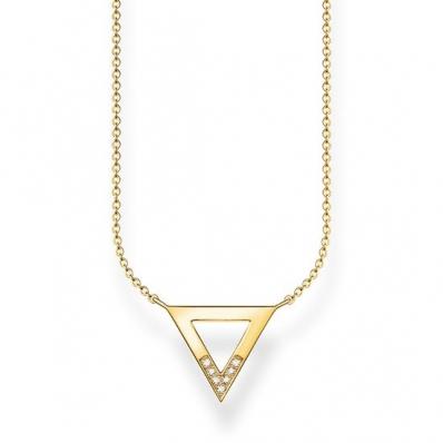 Thomas Sabo Sterling Silver Glam & Soul Necklace Triangle D_KE0007-924-14-L45