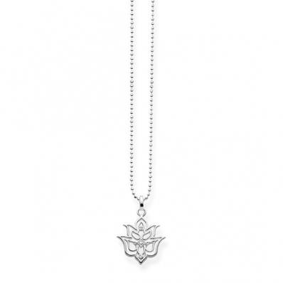 Thomas Sabo Sterling Silver Glam & Soul Necklace Hand of Fatima Ornamentation D_KE0017-924-39-L45