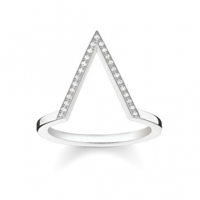 Thomas Sabo Sterling Silver Glam and Soul Triangle Ring D_TR0020-725-14-54