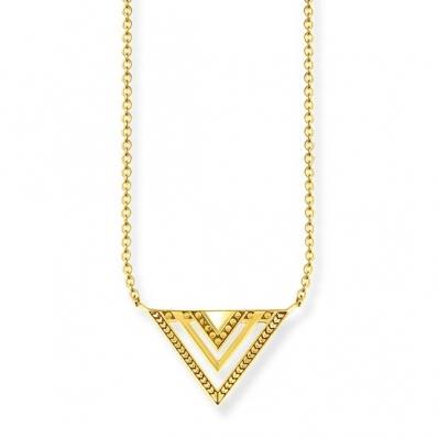 Thomas Sabo Sterling Silver Glam & Soul Necklace 'Africa Triangle' KE1568-413-39-L45