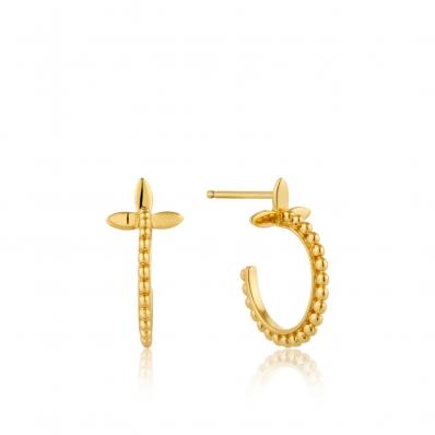 Ania Haie Modern Beaded Hoop Earrings E002-02G
