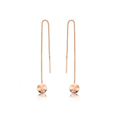 Ania Haie Ripple Threader Earrings. Rose Gold Plated. E007-05R