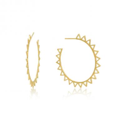 Ania Haie Spiked Hoop Earrings E008-03G